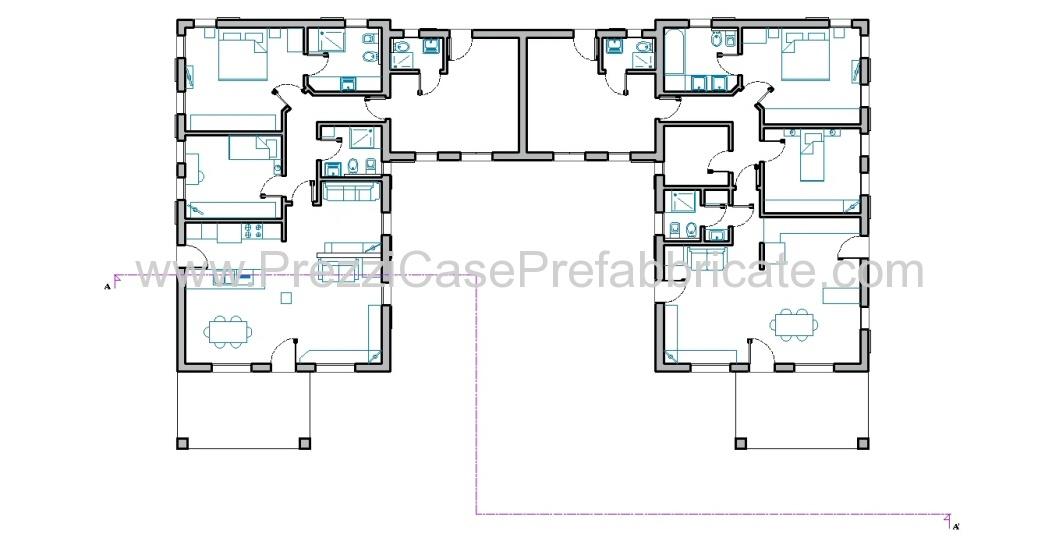 Case in prefabbricate costruzione legno prefabbricata for Progetti ville a due piani