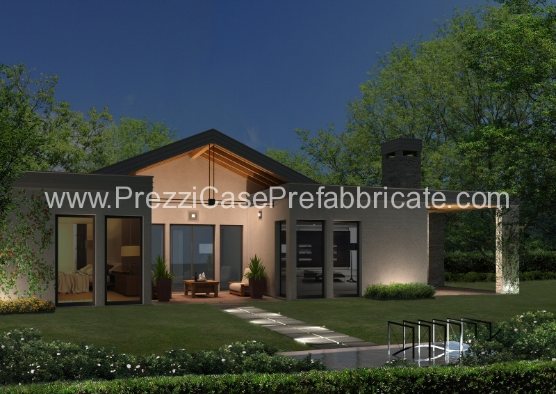 Casa prefabbricata casa passiva casalegno legno lamellare for Casa moderna con tetto in legno