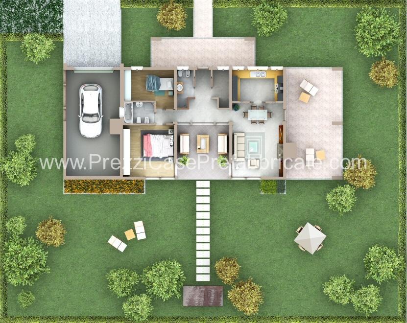 Case prefabbricate prefabbricati case vendita for Piano casa con garage