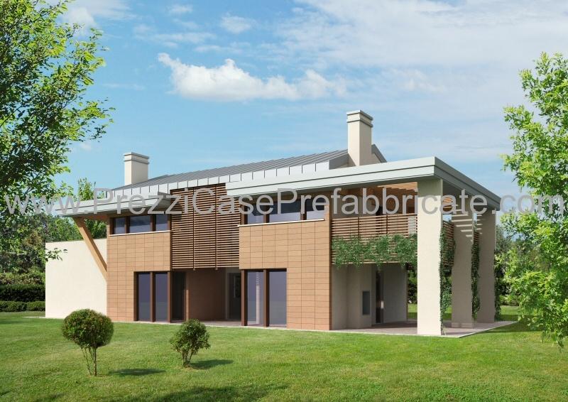casa moderna architettura moderna : casa prefabbricata in legno antisismica in muratura e-Futura