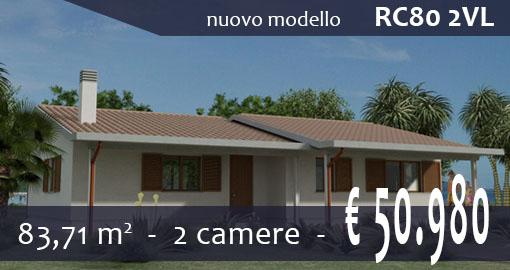 Casa prefabbricata rc80 2vl for Case prefabbricate moderne sicilia