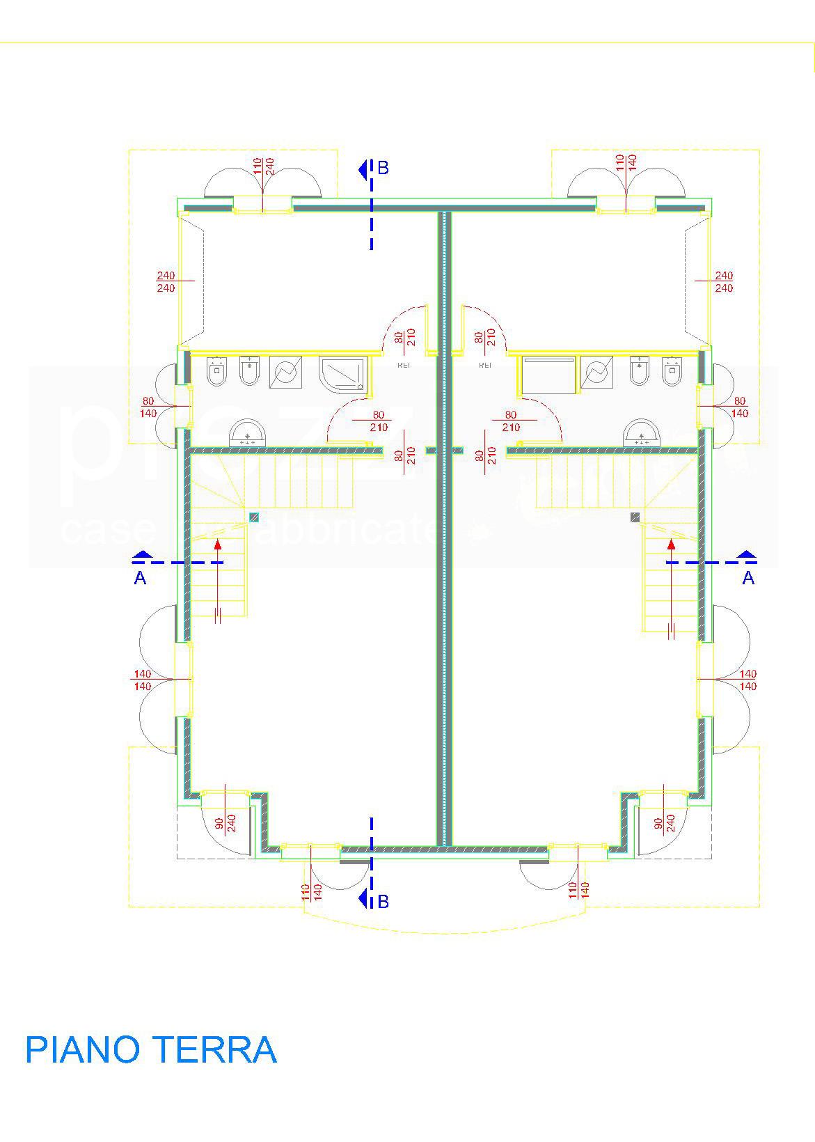 Case prefabbricate legno antisismiche in classe a3 in xlam for Piano terra della casa