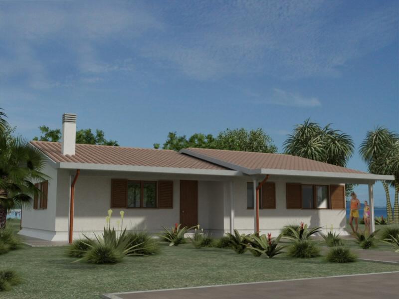 Casa prefabbricata mod rc80 2vl for Piani di casa in collina con garage sottostante