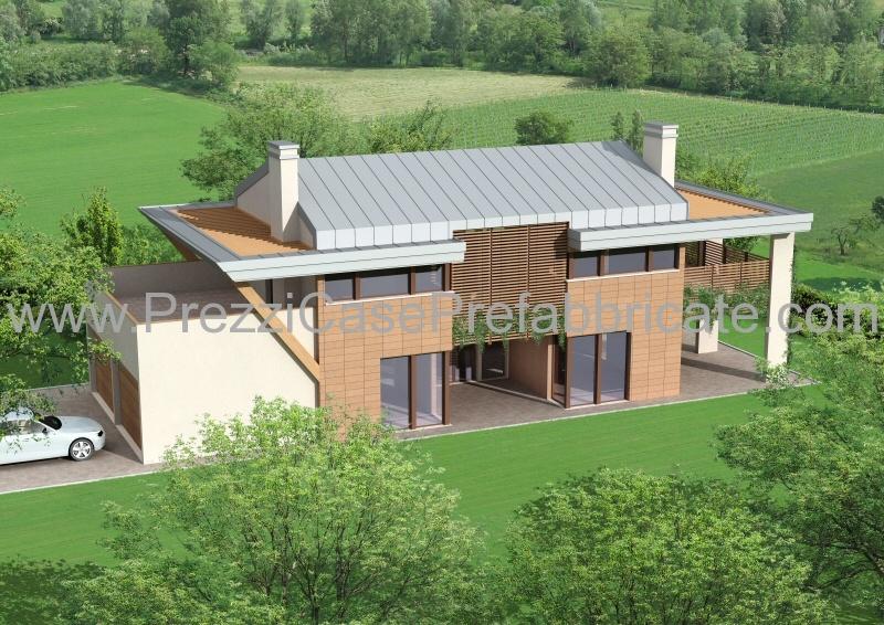 Case prefabbricate case passive case moderne casalegno for Casa moderna con tetto in legno
